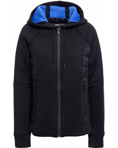 Черная стеганая пуховая куртка Dkny