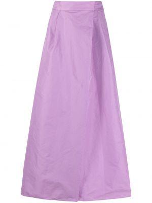 Fioletowa spódnica rozkloszowana z wiskozy Pinko