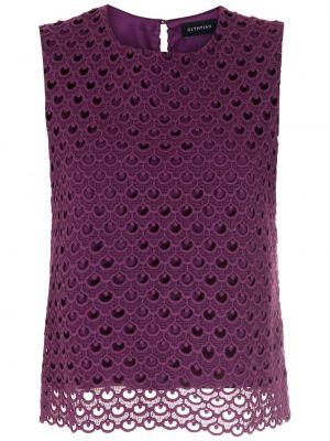 Гипюровая блузка - фиолетовая Olympiah