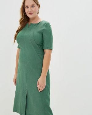 Платье прямое зеленый Borboleta