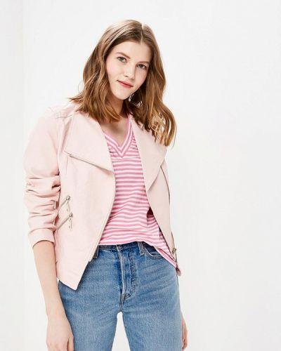 Кожаная куртка весенняя розовая So Sweet