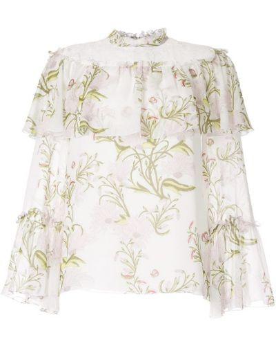 Блузка кружевная с цветочным принтом Giambattista Valli