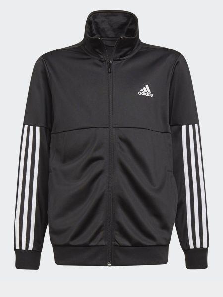 Спортивный костюм в полоску - черный Adidas