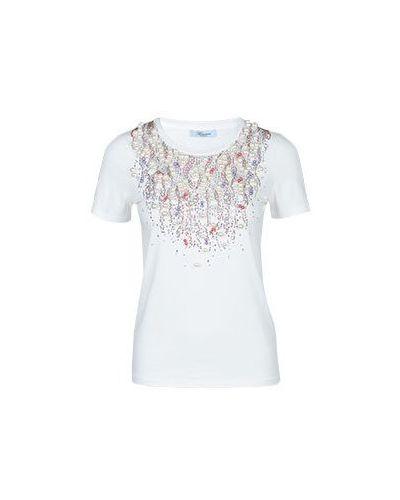 Белая футболка Blumarine
