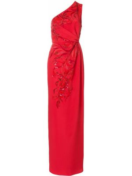 Приталенное шелковое плиссированное платье с пайетками Emilio Pucci