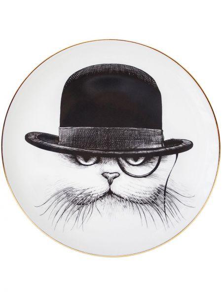 Złoty biały kapelusz z printem Rory Dobner