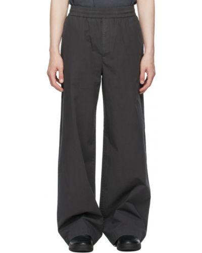 Spodnie bawełniane z haftem Acne Studios
