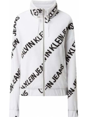 Miękki kurtka jeansowa ze stójką z zamkiem błyskawicznym Calvin Klein Jeans
