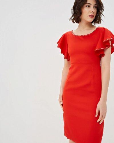 Платье весеннее красный Fresh Cotton