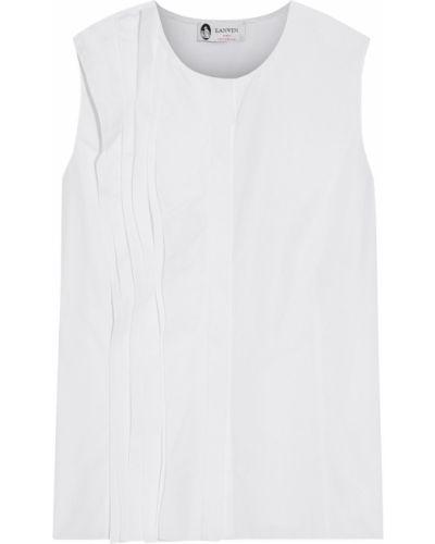 Biały top bawełniany Lanvin