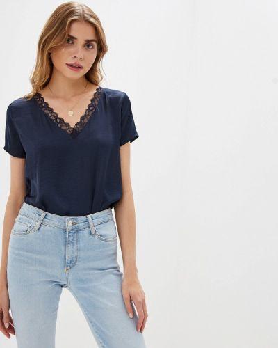 Блузка с коротким рукавом синяя Jacqueline De Yong