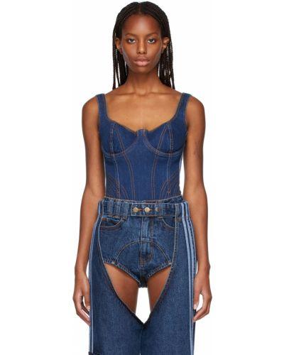 Синее джинсовое боди Adidas X Ivy Park