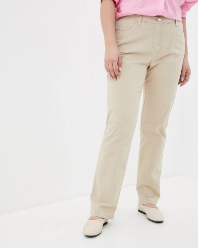 Прямые бежевые брюки Ulla Popken