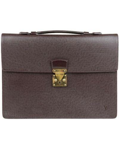Brązowa teczka Louis Vuitton Vintage