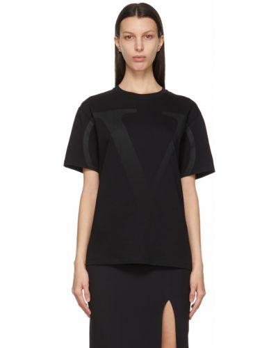 Черная футболка с воротником Valentino