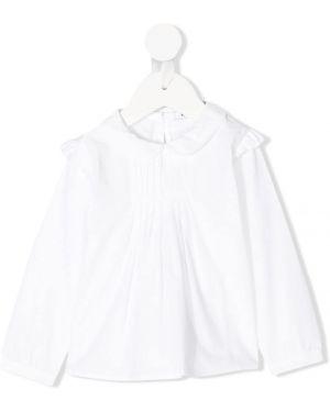 Расклешенная белая блуза Knot