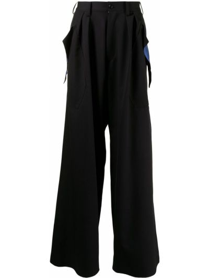 Czarne spodnie materiałowe Sulvam