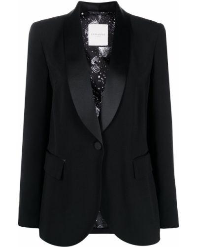 Черный удлиненный пиджак на пуговицах с лацканами Ermanno Ermanno