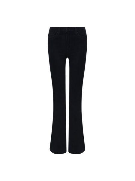 Расклешенные джинсы синие эластичные Paige
