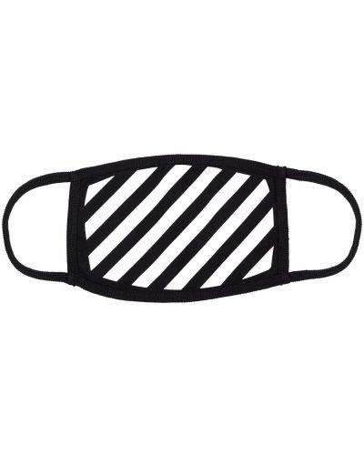 Bawełna czarny maska do twarzy z paskami Off-white