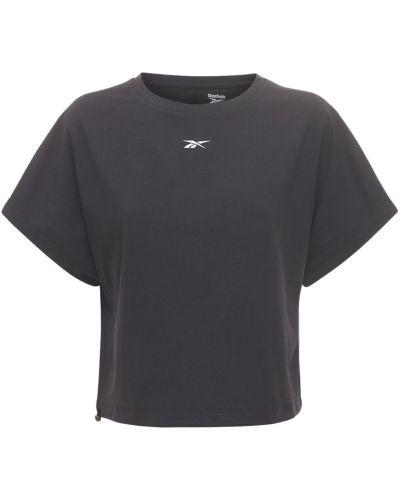 Ватная трикотажная черная футболка Reebok Classics