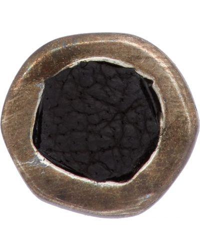 Czarne kolczyki srebrne Guidi