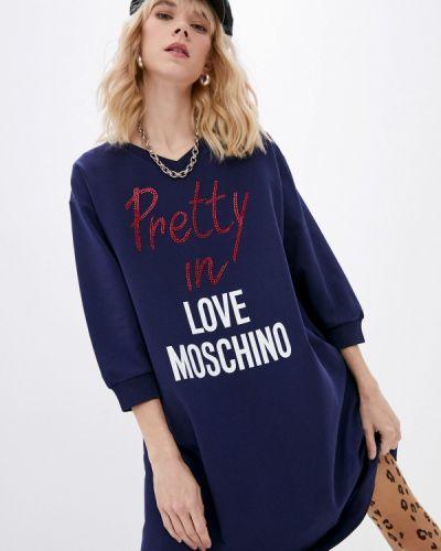Платье - синее Love Moschino