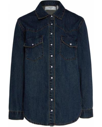 Синяя джинсовая рубашка на кнопках с манжетами с длинными рукавами One Teaspoon