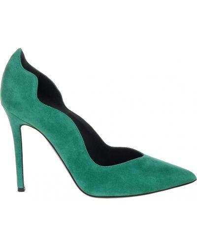 Кожаные туфли - зеленые Ballin