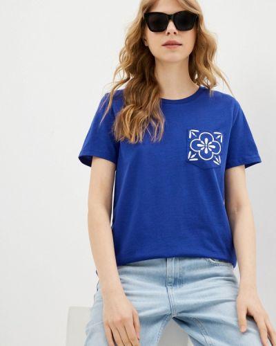 Синяя футболка с короткими рукавами United Colors Of Benetton