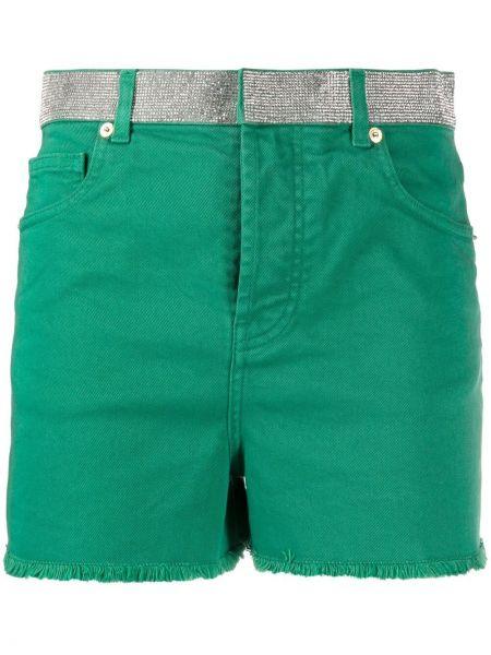 Зеленые хлопковые шорты с карманами Alexandre Vauthier