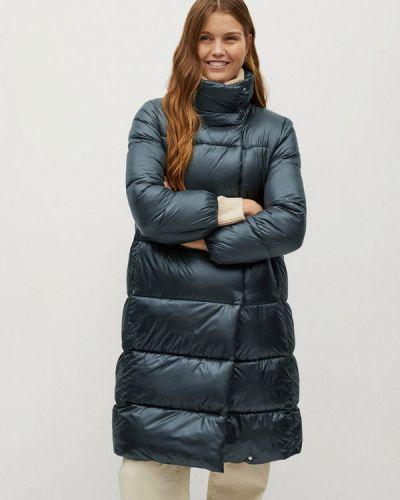 Утепленная синяя куртка Mango