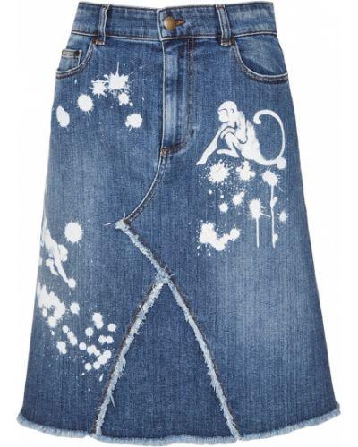 Юбка мини миди джинсовая Red Valentino