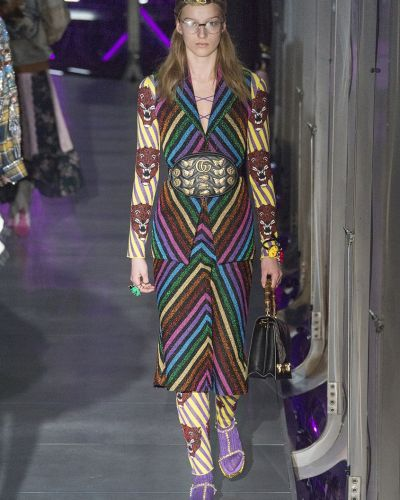Комбинезон в полоску со шнуровкой Gucci