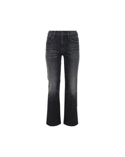 Хлопковые серые джинсы бойфренды Mother