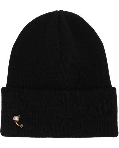 Черная шерстяная вязаная шапка Dsquared2