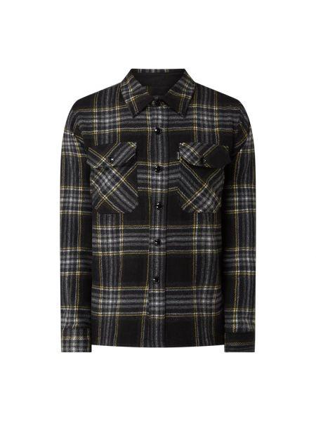 Koszula w kratę - czarna Schott Nyc