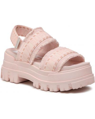 Sandały casual - różowe Buffalo