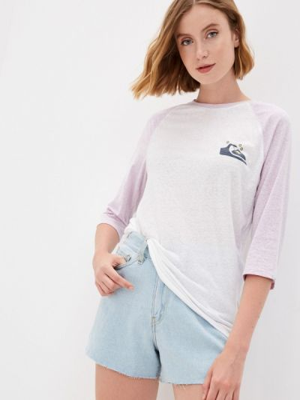 Белая весенняя футболка Quiksilver