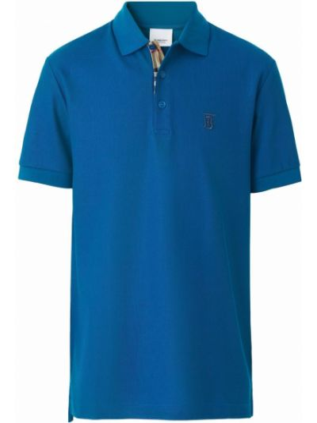 Koszula krótki rękaw - niebieska Burberry