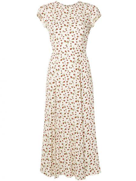 Платье миди с открытой спиной с цветочным принтом Reformation