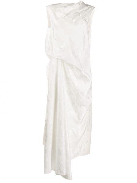 Платье на молнии с драпировкой Loewe
