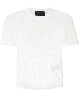 Блузка сетка белая Andrea Bogosian