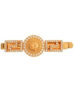 Заколка металлическая золотая Versace