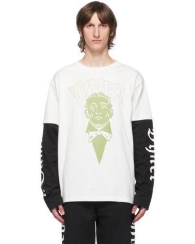 Хлопковая черная рубашка с воротником с длинными рукавами Vyner Articles