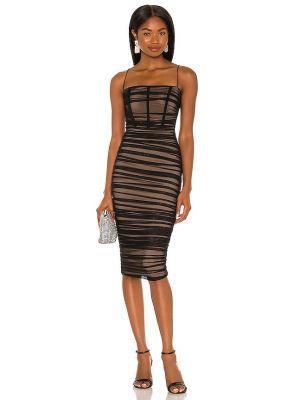 Czarna sukienka z siateczką Nookie