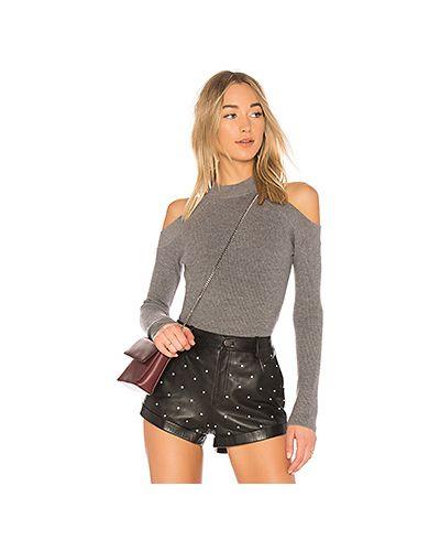 Вязаный свитер в рубчик с открытыми плечами Lovers + Friends