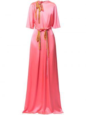 Шелковое вечернее платье - розовое Roksanda