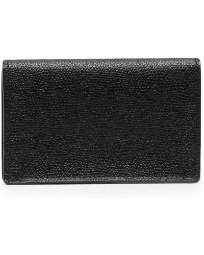 Czarny portfel skórzany Valextra