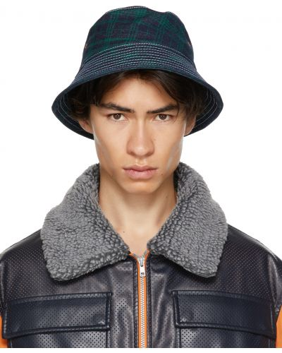 Czarny kapelusz bawełniany z haftem Rassvet